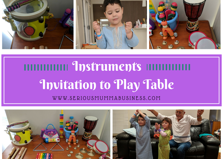 Instruments Invitation to Play Table