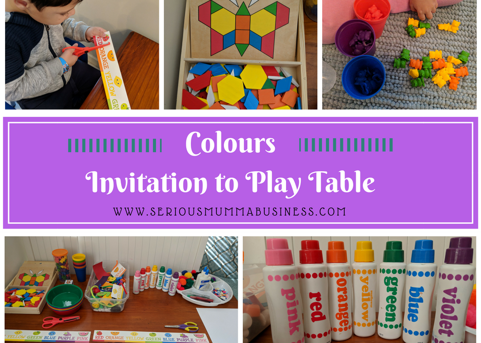 Colours Invitation to Play Table