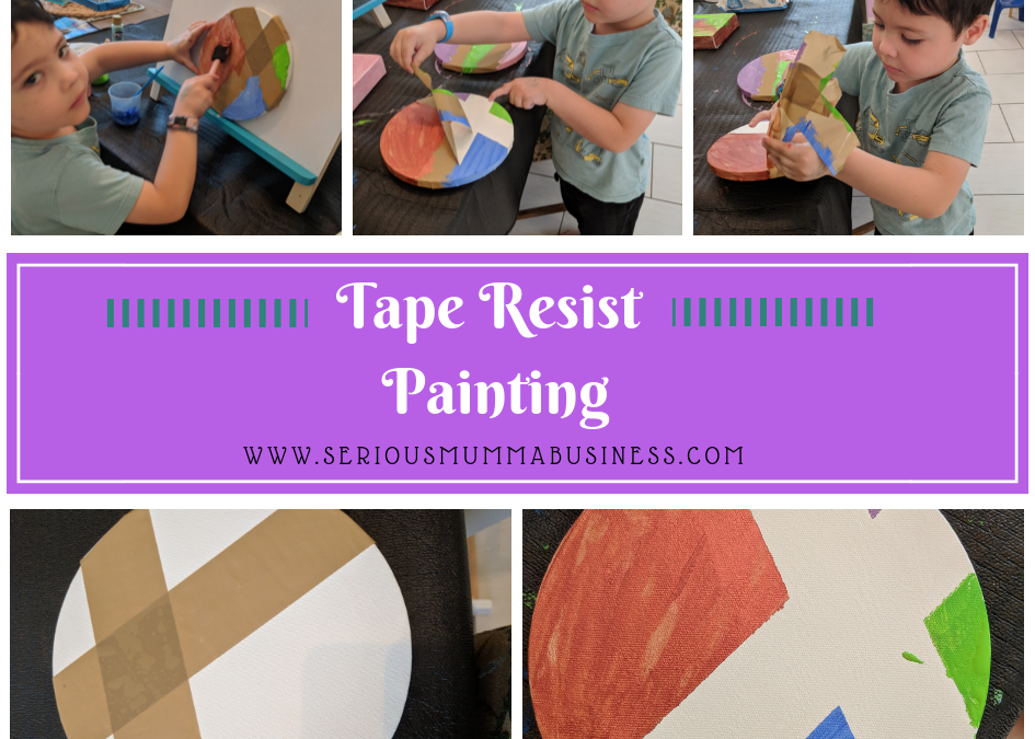 Tape Resist Painting