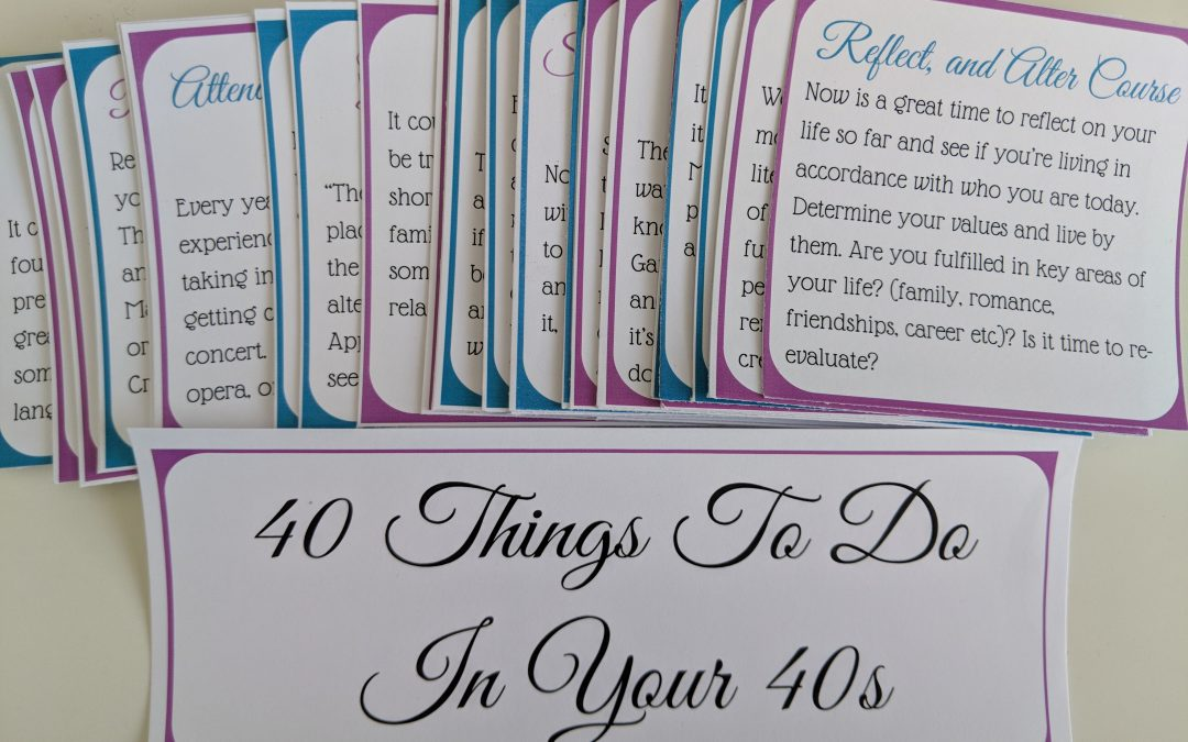40 Things to Do in Your 40s